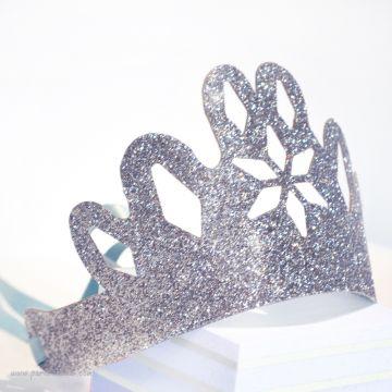 couronne diadème paillette bleu turquoise la reine des neiges anniversaire enfant paris luxe