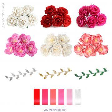 Aurélia - Sur Mesure - Couronne de Rose et Magnolias