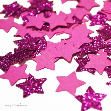 confettis étoiles rose paillettes argent rose fete anniversaire princesse theme licorne anniversaire princesse petite fille chic