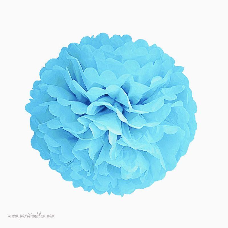 rosace pompon fleur papier de soie rose chambre b b garcon. Black Bedroom Furniture Sets. Home Design Ideas