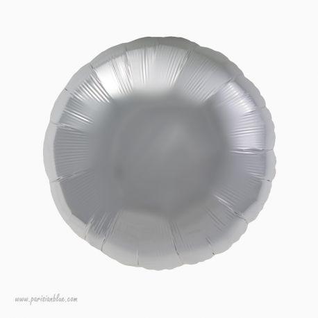 Ballon Rond Mylar Argent