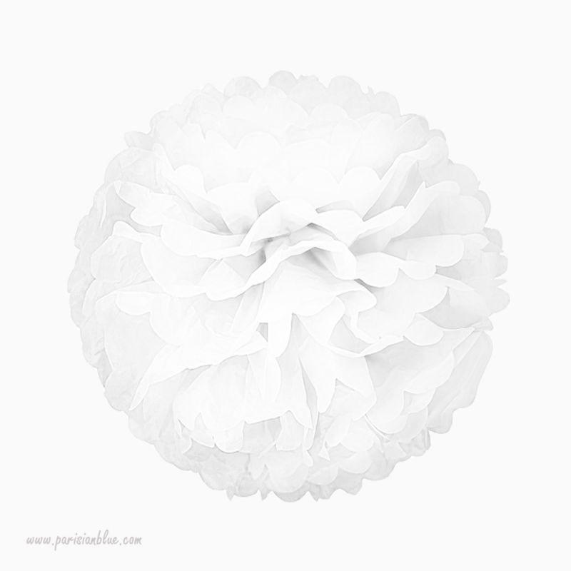 rosace papier de soie blanc. Black Bedroom Furniture Sets. Home Design Ideas