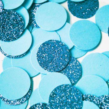Larges Confettis Pastilles Paillettes Duo Bleus