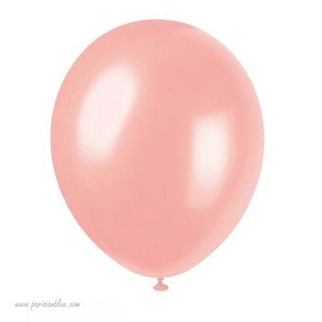 Lot de 6 Ballons Nacre Pêche