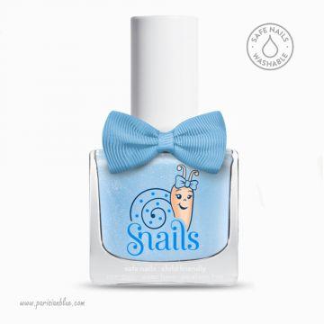 vernis reine des neiges bleu vernis bio lavable eau safe nail washable vernis enfant non toxic verni sans paraben petite fille
