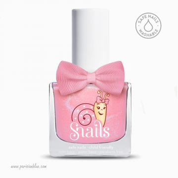 vernis rose princesse candy bio lavable eau safe nail washable snails vernis enfant vernris eau non toxic