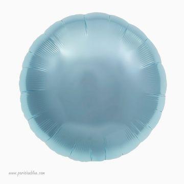 Ballon Rond Mylar Bleu glacier