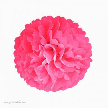 pompon papier de soie rosace papier de soie tassel diy aniversaire enfant rosace papier de soie rose fuschia anniversaire fee