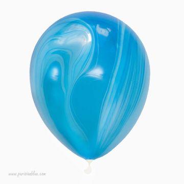 ballons marbrés bleus