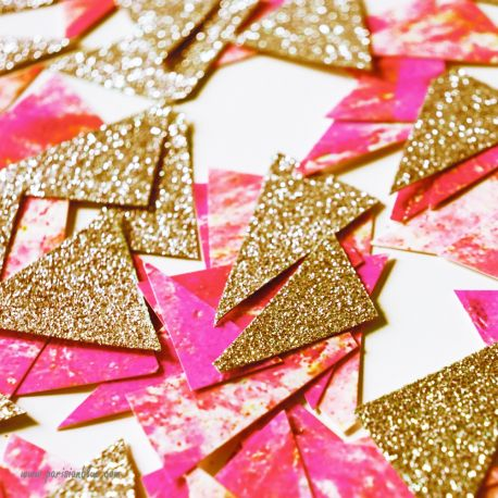 confettis paillettes rose et or decoration fete anniversaire enfant luxe anniversaire fille paris lyon chic made in france