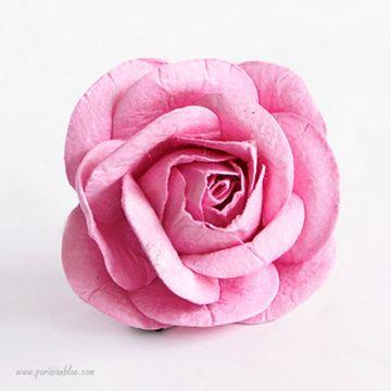 Barrette cheveux rose fleur