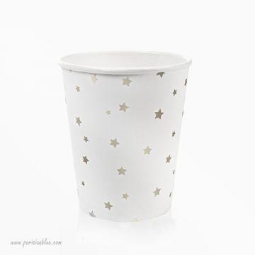 verre jetable meri meri vaisselle jetable etoile argent toot sweet gobelet papier jetable anniversaire enfant luxe paris