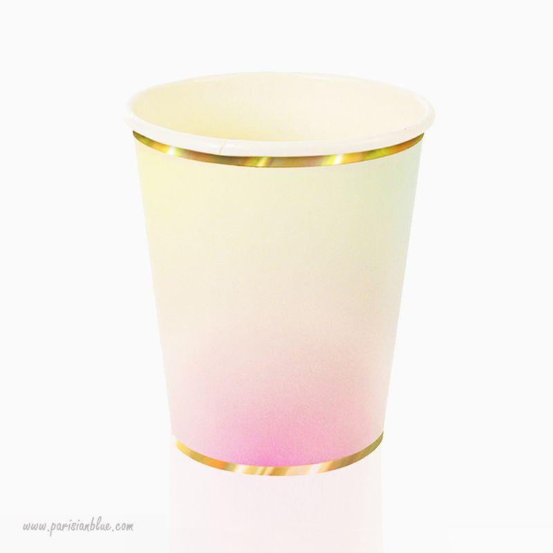 gobelets pastel merimeri vaisselle carton jetable anniversaire enfant. Black Bedroom Furniture Sets. Home Design Ideas