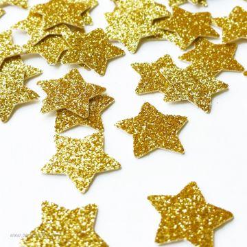 Confettis paillettes étoiles or