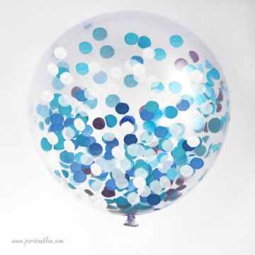 Maxi ballon 1 mètre confettis intérieur
