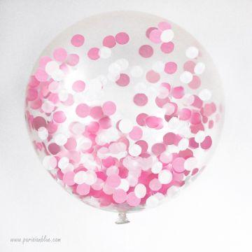 Maxi Ballon avec confettis rose