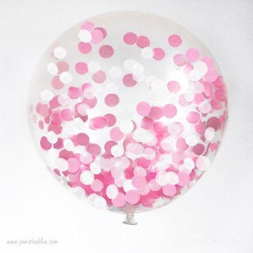 Maxi ballon confettis intérieur