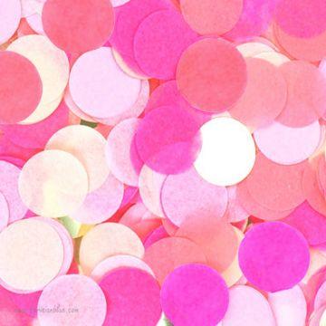 Larges confettis papier de soie multi rose