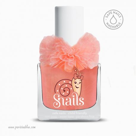 vernis corail princesse 0bio lavable eau safe nail washable snails vernis enfant vernis eau non toxic
