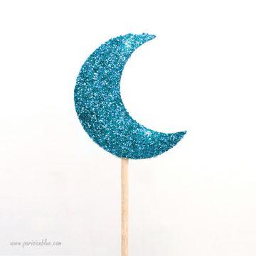 Pics à cupcakes lune