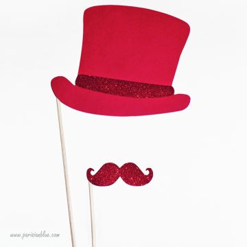 Photobooth Accessoire Dandy Rouge