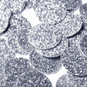 Larges Confettis Pastilles Paillettes Argent