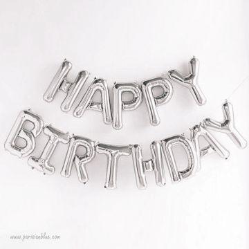 Happy Birthday Ballons Lettres