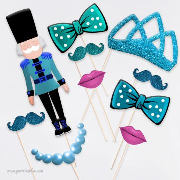animation photo anniversaire enfant photobooth moustaches paillettes photobooth diadème paillettes enfant