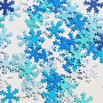 Confettis flocons de neige dégradés