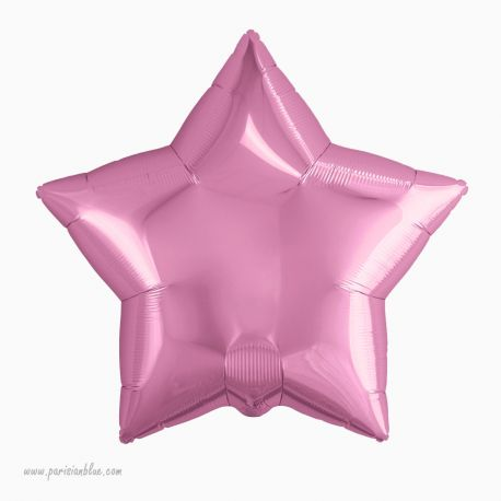 Ballon Etoile Mylar Rose pâle