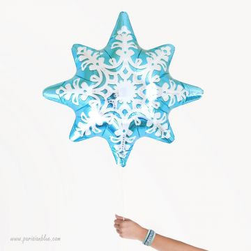 Ballon Flocon de Neige Turquoise