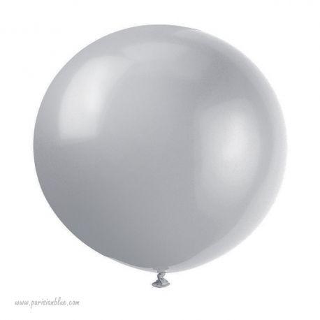 ballon géant un mètre argent