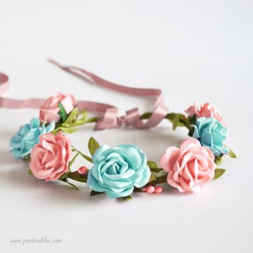 Anaelle- Couronne de Roses Duo