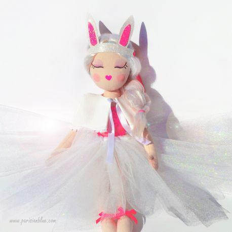 poupée de chiffon art doll poupee ballerine soft doll ragdoll poupee danseuse luxe paris