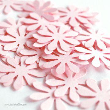 Confettis Fleurs Rose Poudré
