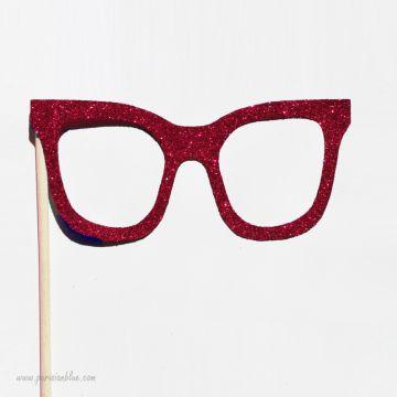 Photobooth Accessoire Lunettes Rouge