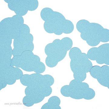 Confettis Nuages Bleu