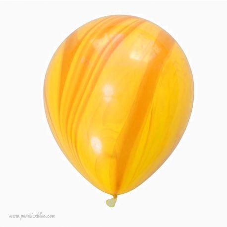 Lot 3 Ballons Marbré Jaune
