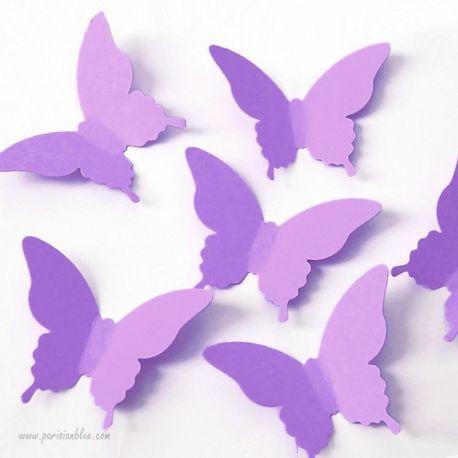 Confettis Papillon Lilas
