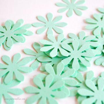 Confettis Fleurs Menthe