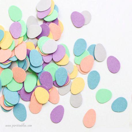 Confettis gouttes de pluie multiicolore