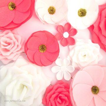Mur de fleurs papier de soie