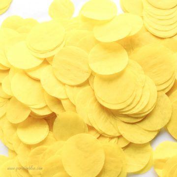 Larges confettis papier de soie jaune