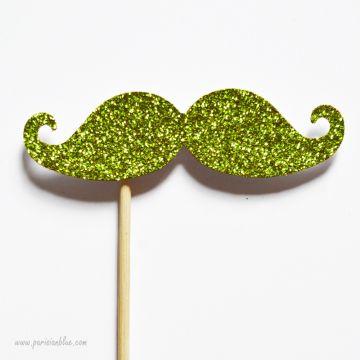 Photobooth Accessoire Moustache paillette