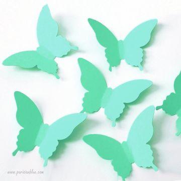 Confettis Papillon Menthe