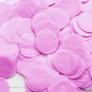 Larges confettis papier de soie Lilas pour lacher de confettis mariage ballons confettis interieur