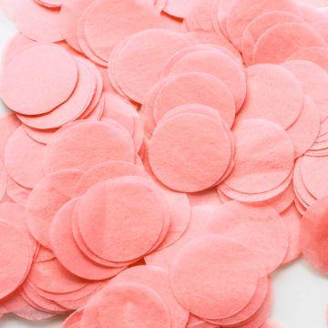 Larges confettis papier de soie pêche