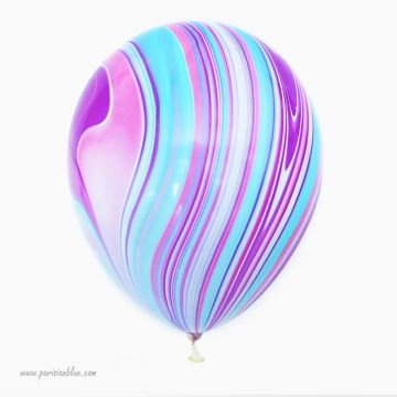 Lot 3 Ballons Marbré Violet