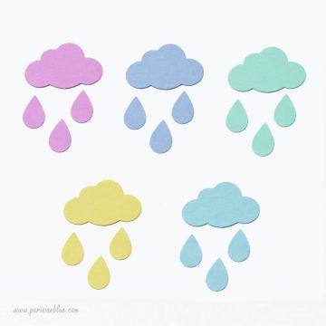 Confettis Nuages Multicolores