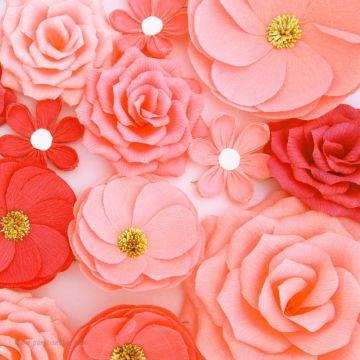 mur de fleurs mariage papier